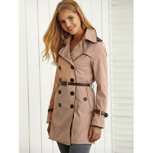 Belted Pockets Trench Coat -