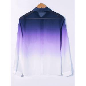 See-Through Ombre Shirt -
