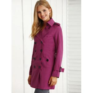 Belted Slim Trench Coat -