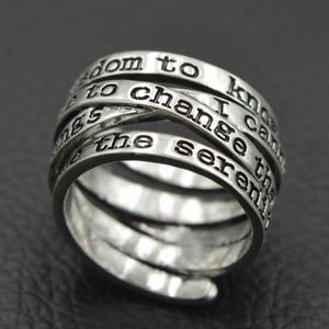 Spring Engraving Letters Ring -