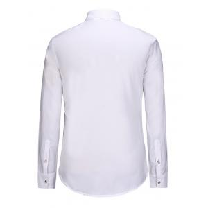 3D Symmetrical Elk Print Turn-Down Collar Long Sleeve Shirt -