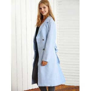 Belted Maxi Trench Coat -