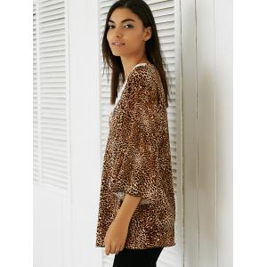 Lace Patchwork Leopard Blouse -
