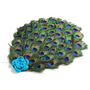 Crochet Photography Peacock Knitted Baby Clothes Set -