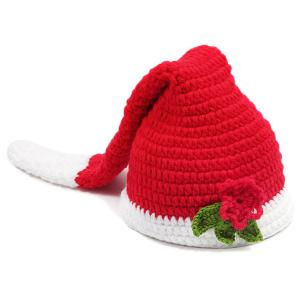 Crochet Photography Father Christmas Knitted Baby Clothes Set -