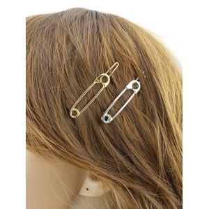 Alloy Pin Shape Hairpin - SILVER