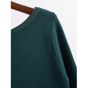 Flash Neck Fitting Buttoned Knitwear -