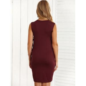 Slimming Lace-Up Hollow Out Bodycon Dress -