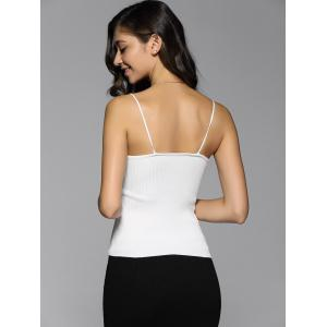 Ribbed Knitted Backless Tank Top -