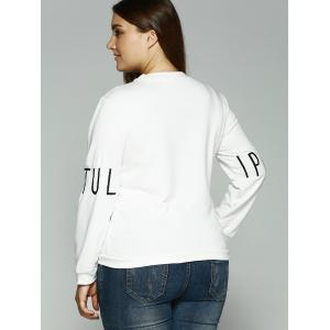 Printed Letter Embroidered Sweatshirt - WHITE 2XL