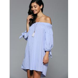 Off-The-Shoulder Bowknot High Low Dress -