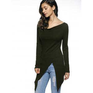Long Sleeves Asymmetrical T-Shirt -