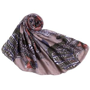 Retro Paisley Pattern Voile Scarf -