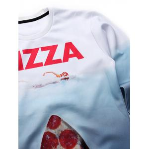 Long Sleeve Pizza Graphic Sweatshirt -