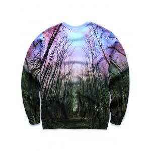 Inverted Triangle 3D Print Long Sleeve Sweatshirt - COLORMIX S