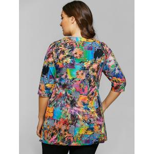 Tie-Dyed Half Sleeves T-Shirt -