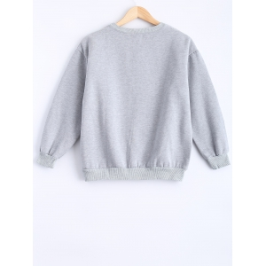 Round Neck Patch Design Sweatshirt -