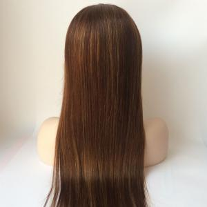 Long Straight Lace Front Real Natural Hair Wig - BROWN