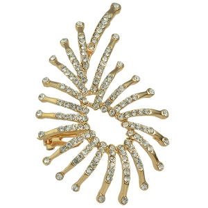 ONE PIECE Alloy Rhinestone Ear Cuff - GOLDEN
