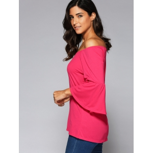 Flare Sleeve High Low Blouse -