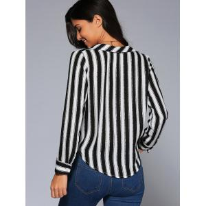 Surplice Striped Blouse -