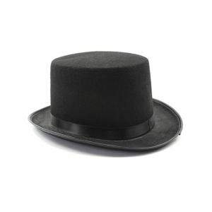 Turnup Brim Magic Felt Top Costume Hat - BLACK