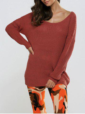 Shops Textured Loose-Fitting Long Sweater
