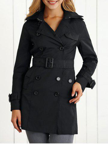 Discount Belted Epaulet Trench Coat