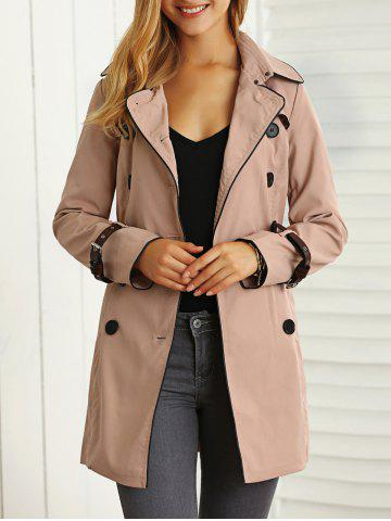 Sale Belted Pockets Trench Coat