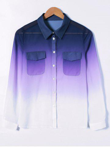 Latest See-Through Ombre Shirt