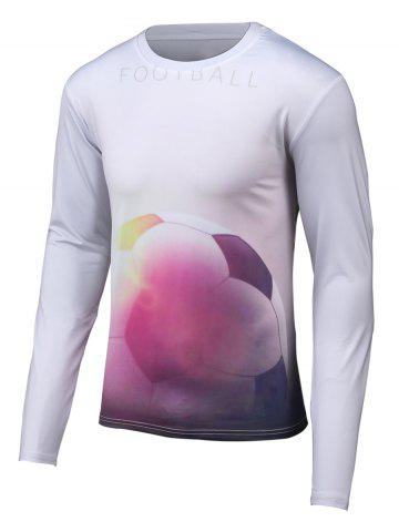 Best Football 3D Printed Round Neck Long Sleeve T-Shirt