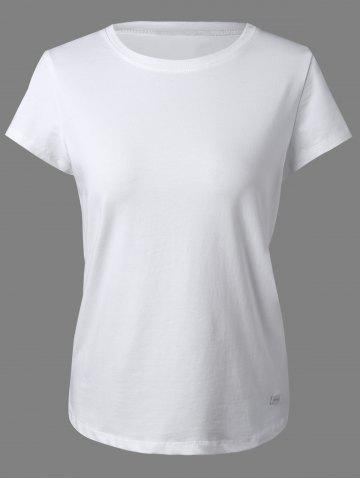 Outfit Round Neck Short Sleeves Badged T-Shirt