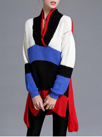 Shop Asymmetrical Furcal V Neck Knitwear