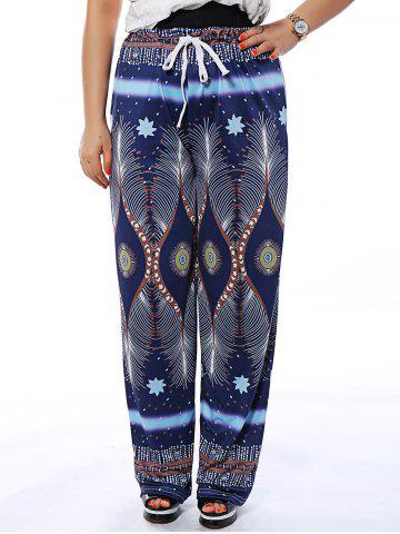 Shops Drawstring Printed Flowy Loose Pants