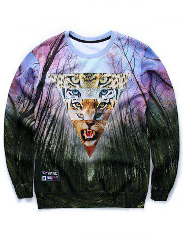 Store Inverted Triangle 3D Print Long Sleeve Sweatshirt COLORMIX XL