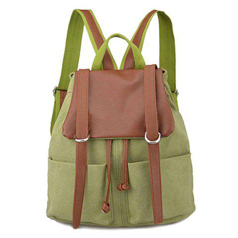 Couleur Bloc Drawstring Splicing Backpack
