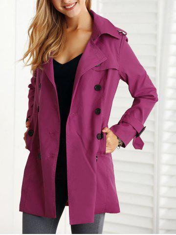 Chic Belted Slim Trench Coat