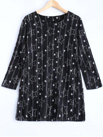 Sale Long Sleeve Star Loose Fit Sweater