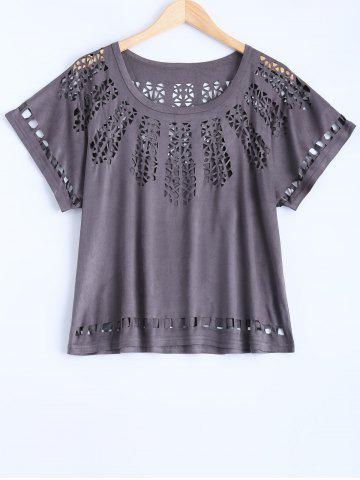 Chic Hollow Out See Through T-Shirt