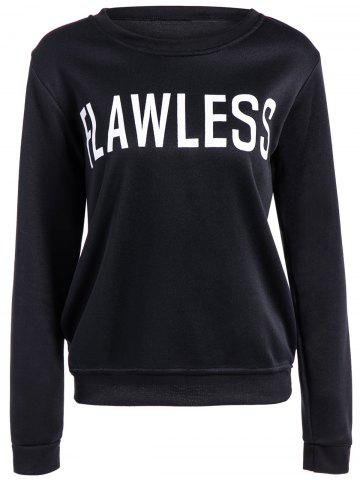 Fashion Preppy Style Letter Loose Fit Sweatshirt
