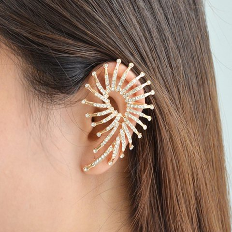 Online ONE PIECE Alloy Rhinestone Ear Cuff GOLDEN