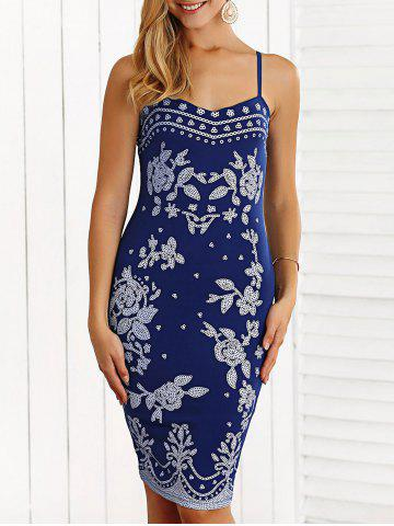 Hot Floral Print Skinny Bodycon Dress
