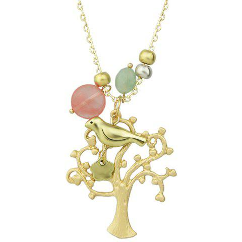 Chic Bird Tree Floral Beaded Sweater Chain