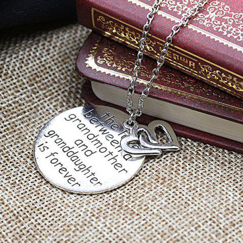 Shop Engraved Love Forever Double Heart Pendant Necklace - SILVER  Mobile