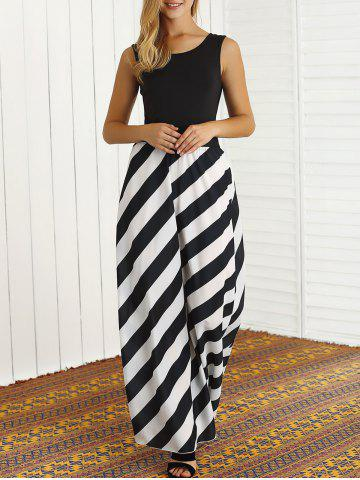 Outfits Striped Patchwork Maxi Dress