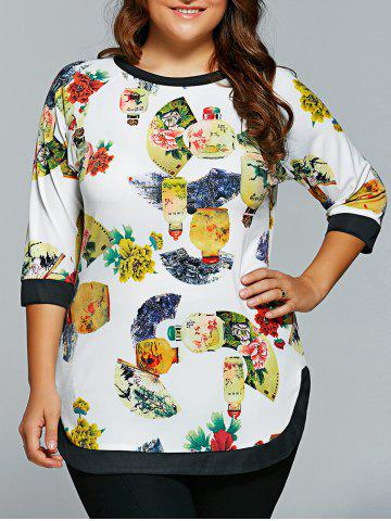Affordable Contrast-Trim Fan Printed Half Sleeves T-Shirt