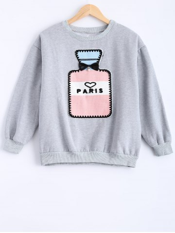 Buy Round Neck Patch Design Sweatshirt