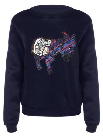 Shop Long Sleeve Patch Design Sweatshirt