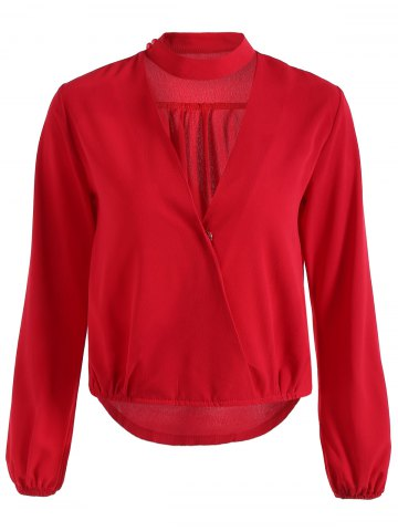 Best Plunging Neck Long Sleeve Blouse