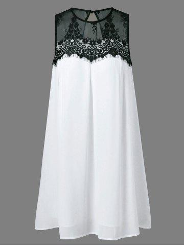 Hot Lace Splicing Tent Dress